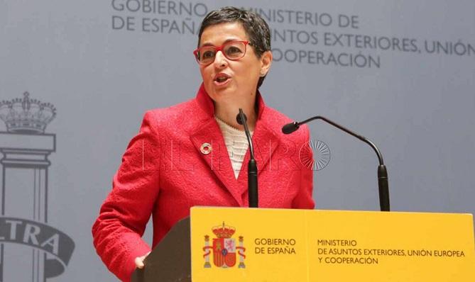 La ministra González Laya