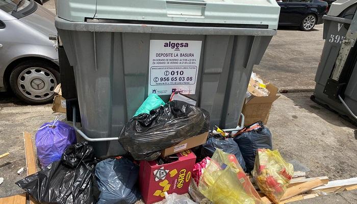 El PSOE pide respuestas ante la acumulación de residuos en Algeciras