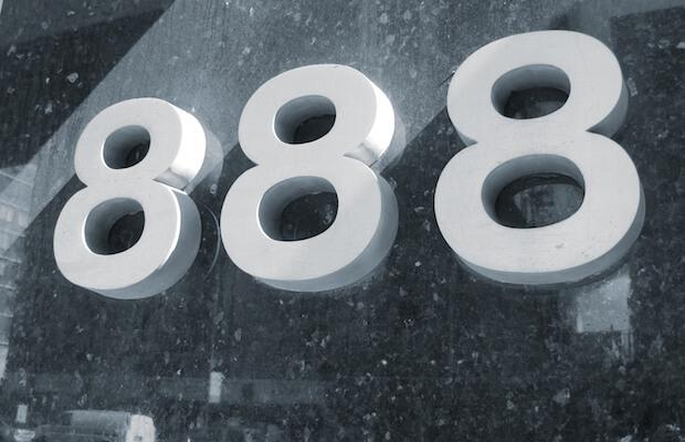 Logo de la empresa de juego 888 Holdings
