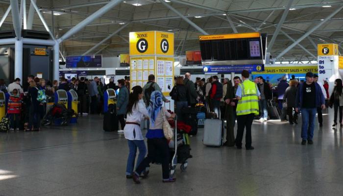 Imagen de archivo del aeropuerto de Stansted, desde donde muchos británicos viajan a Andalucía