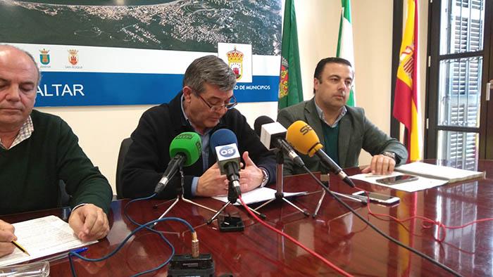 Luis Ángel Fernández, durante la rueda de prensa de hoy