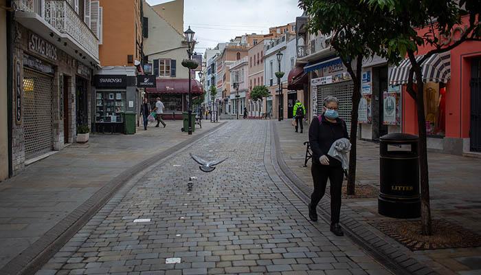 Main Street durante el confinamiento por la epidemia. Foto Sergio Rodríguez.