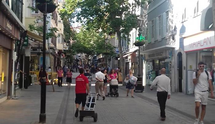 Main Street de Gibraltar, en una imagen de archivo