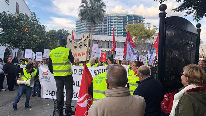 Manifestación ayer de Unite en Casemates