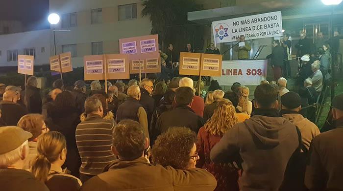 Manifestación hoy en La Línea