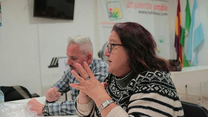 Manoli Alvarez, portavoz de IU en La Línea