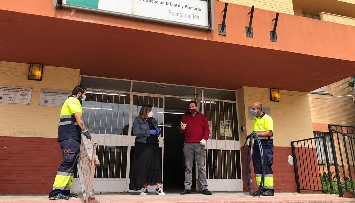 Se reanuda el mantenimiento de los centros educativos de Algeciras