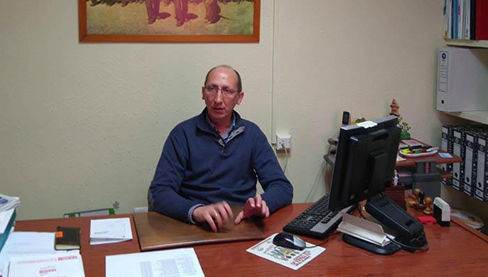 Manuel Triano en su despacho sindical