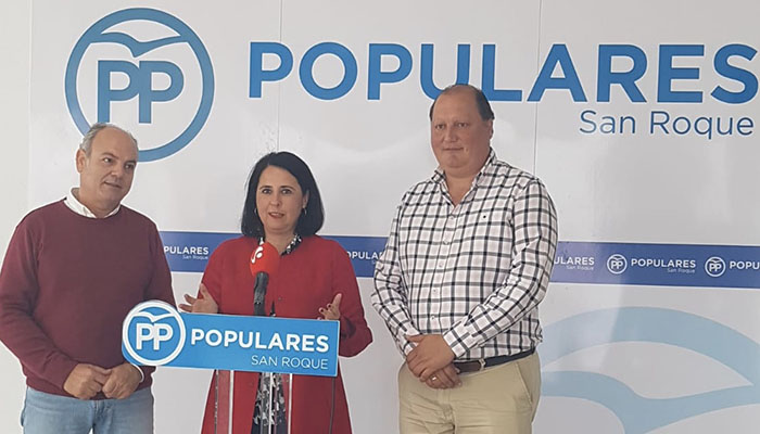 Marina García en un acto del PP