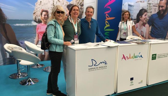 El expositor de Marinas de Andalucía en Southampton