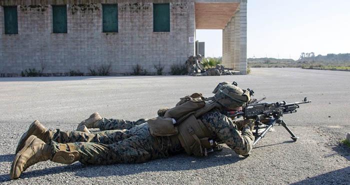 Marines USA destinados con Morón durante un ejercicio en la base de Rota. Foto US Marine Corps / Kenny Gomez