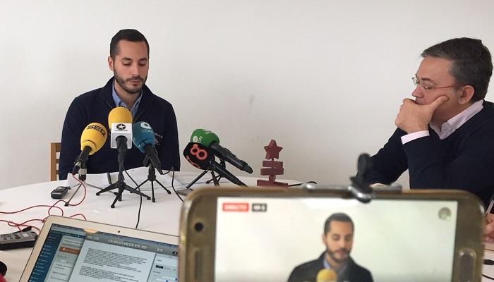 El teniente de alcalde Mario Fernández, en rueda de prensa