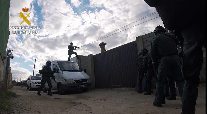 Una de las intervenciones de la Guardia Civil