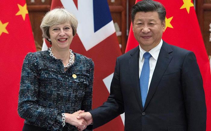 Theresa May en China