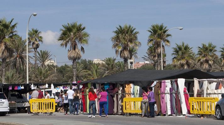 El mercadillo de La Línea, suspendido al menos dos semanas