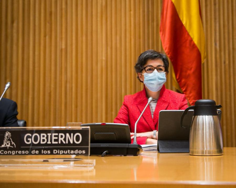 La ministra en su comparecencia en la Comisión Mixta para la UE. Foto CD
