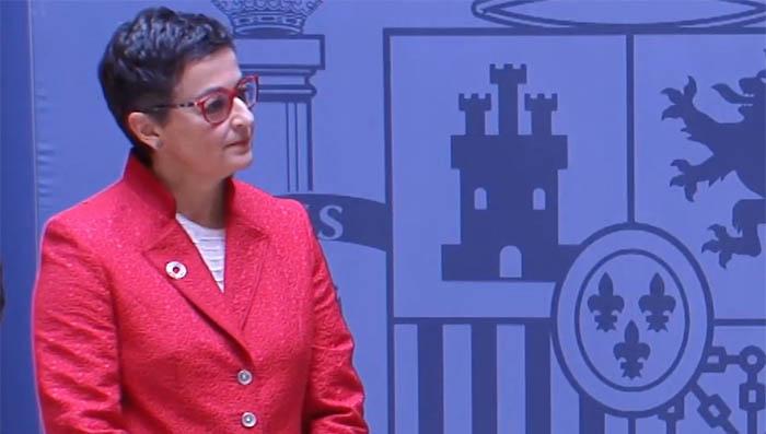 Ministra de Exteriores español, González Laya