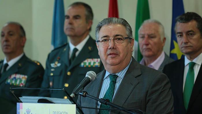 El ministro Juan Ignacio Zoido, hoy en La Línea