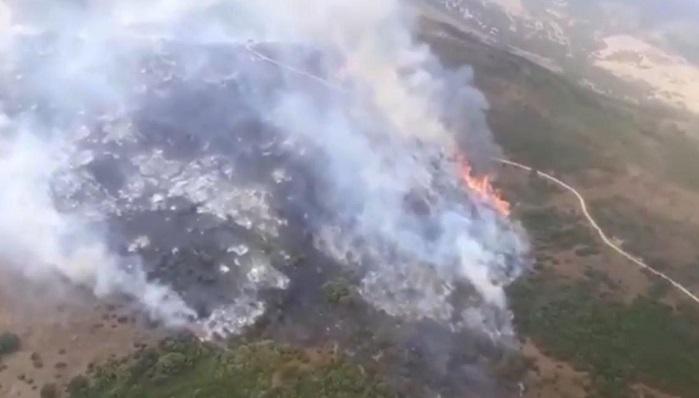 Declarado un incendio en el paraje Cortijo la Hoya en Algeciras