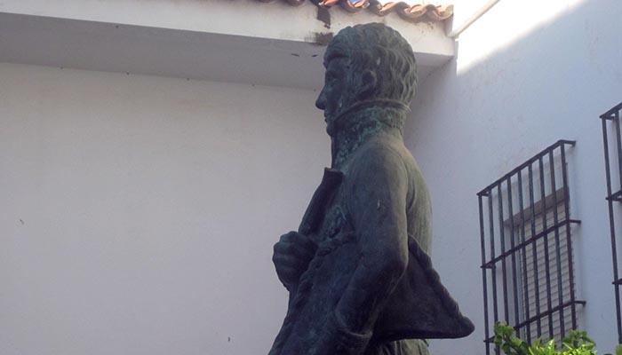 Monumento a Lacy en su San Roque natal. Obra de Juan Jesús Moreno Saborido