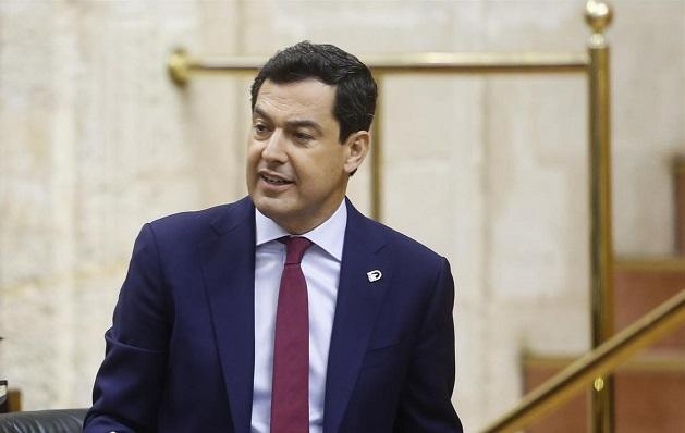 El presidente andaluz, este jueves en sede parlamentaria