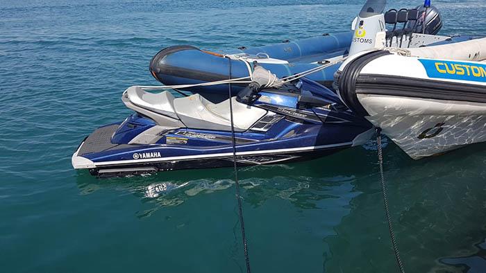 Moto acuática intervenida en Gibraltar. Foto InfoGibraltar