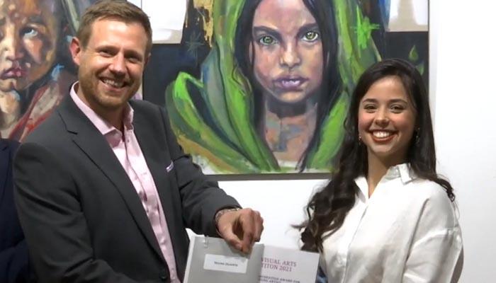 Naomi Duarte fue premiada como la mejor artista joven. Foto: Info Gibraltar