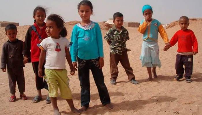 Niños saharaui, en una imagen de la campaña de solidaridad
