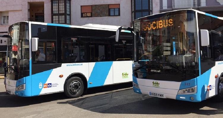 Autobuses urbanos que prestan servicio en La Línea. Foto: NG