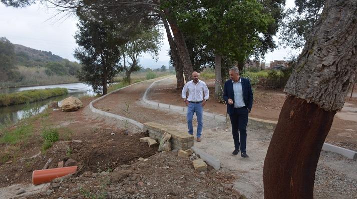 Juanma Ordóñez y Ruiz Boix, supervisando las obras