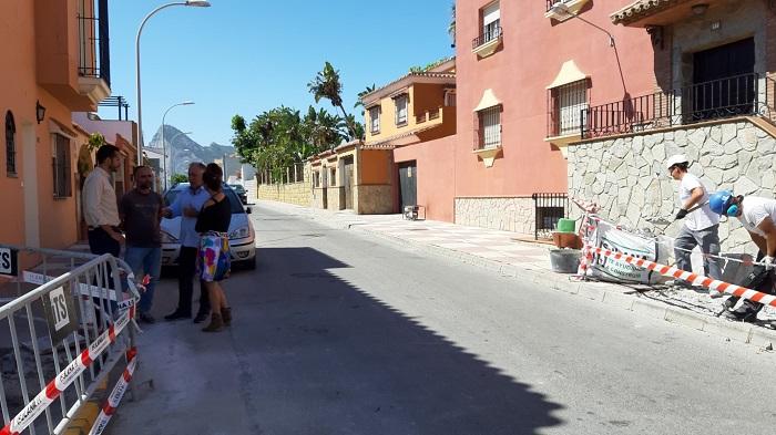 Iniciada la obra de itinerario accesible entre el Hospital y el centro de Fegadi