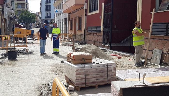 Una zona de obras visitada esta mañana por el concejal
