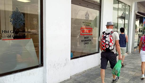 Oficina del Brexit en Main Street de Gibraltar.