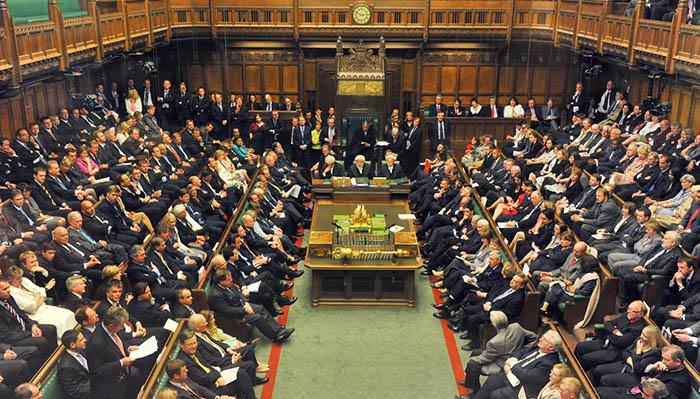 Sesión parlamentaria en Londres