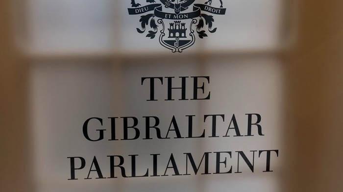 Rótulo del Parlamento de Gibraltar