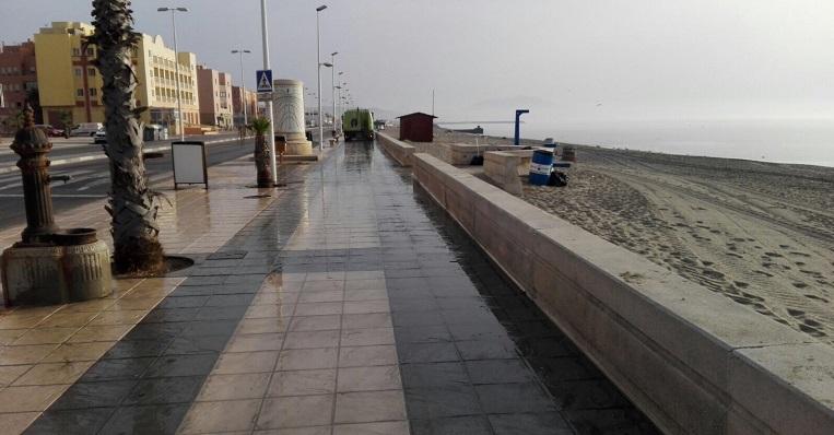 La zona afectada es cercana al Paseo Marítimo de Levante