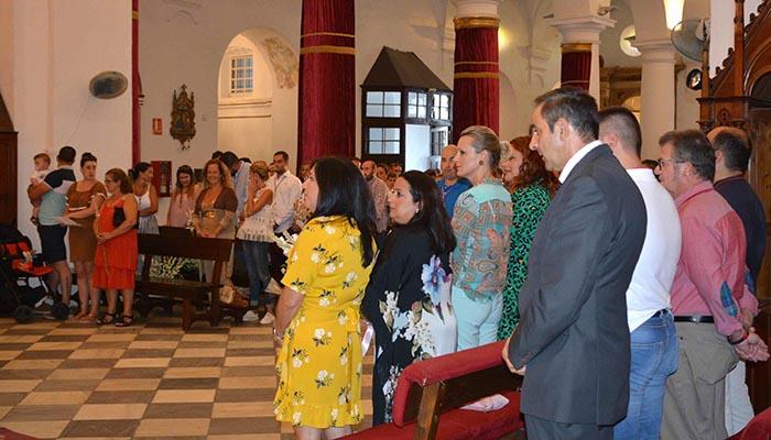 Imagen de los asistentes al acto en San Roque