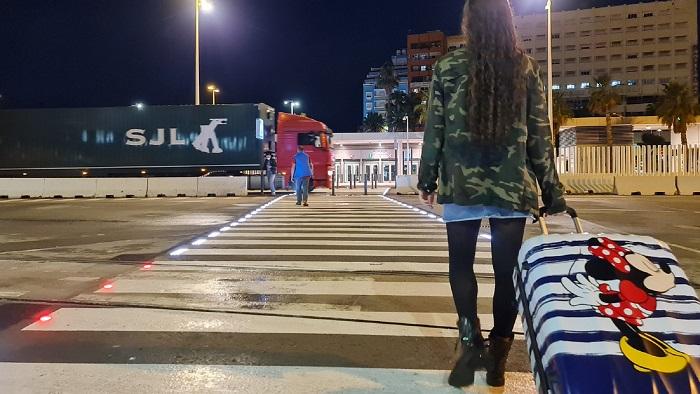 El Puerto activa el paso de peatones inteligente del Acceso Central