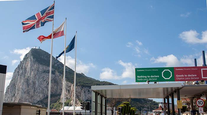 Gibraltar, desde la aduana de la Verja. Foto Sergio Rodríguez