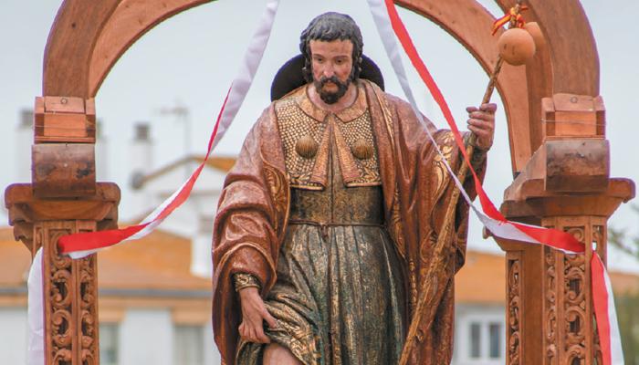 Imagen de patrón en una de sus salidas procesionales