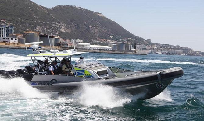 Una patrullera de la Policía de Gibraltar