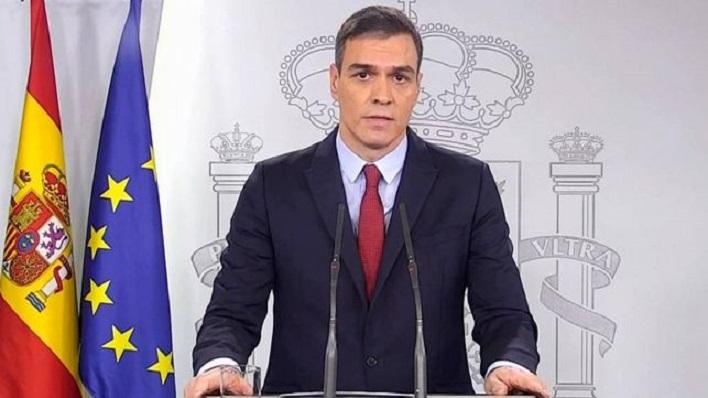 Pedro Sánchez, en su comparecencia de esta noche