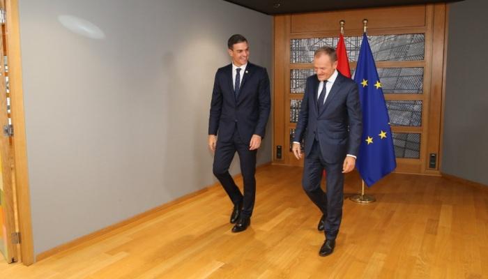 Pedro Sánchez, durante su estancia esta semana en Bruselas