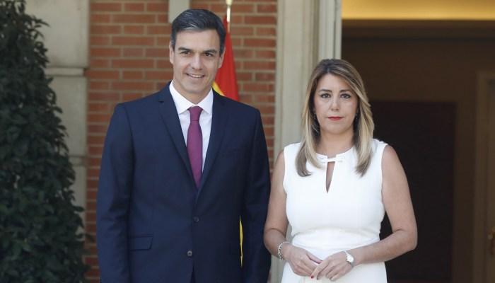 El presidente del Gobierno junto a la presidenta de la Junta de Andalucía