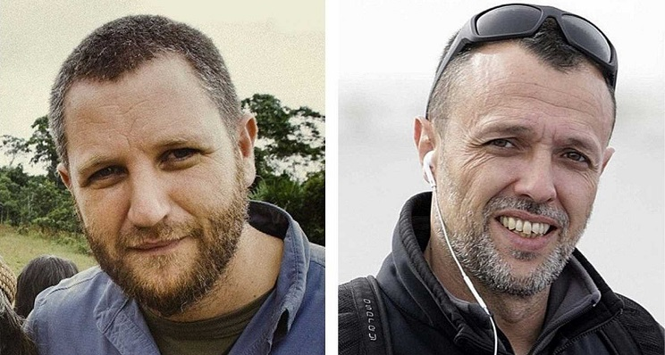 Imagen de los periodistas fallecidos. Foto: NG
