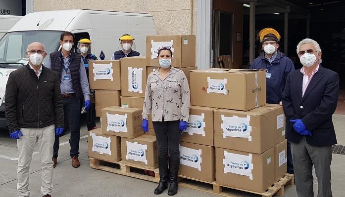 La Junta agradece la donación de mascarillas del Puerto de Algeciras