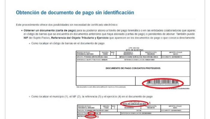 Hacienda habilita enlaces para descargar los recibos del 'sello' y el IBI en Algeciras
