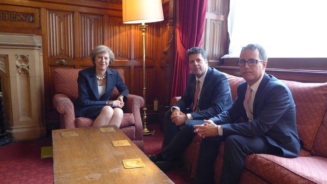 La última reunión con Theresa May de los representantes gibraltareños