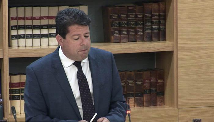 Fabian Picardo, en el Parlamento de Gibraltar