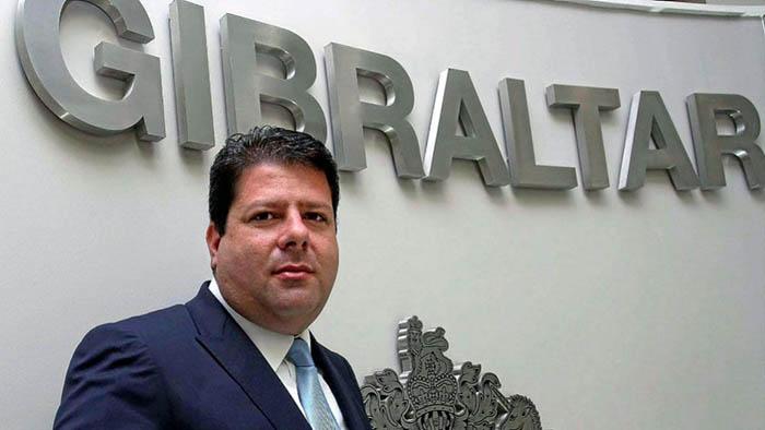 Picardo en la sede del gobierno de Gibraltar en una imagen de archivo